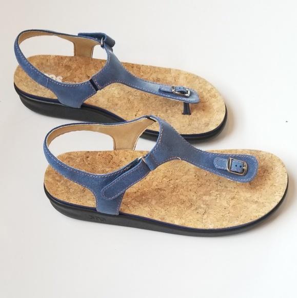 SAS Shoes | Sas Marina Blue Sandals